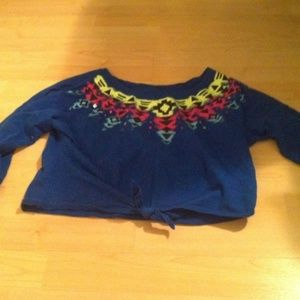 justice cropped long sleeve top